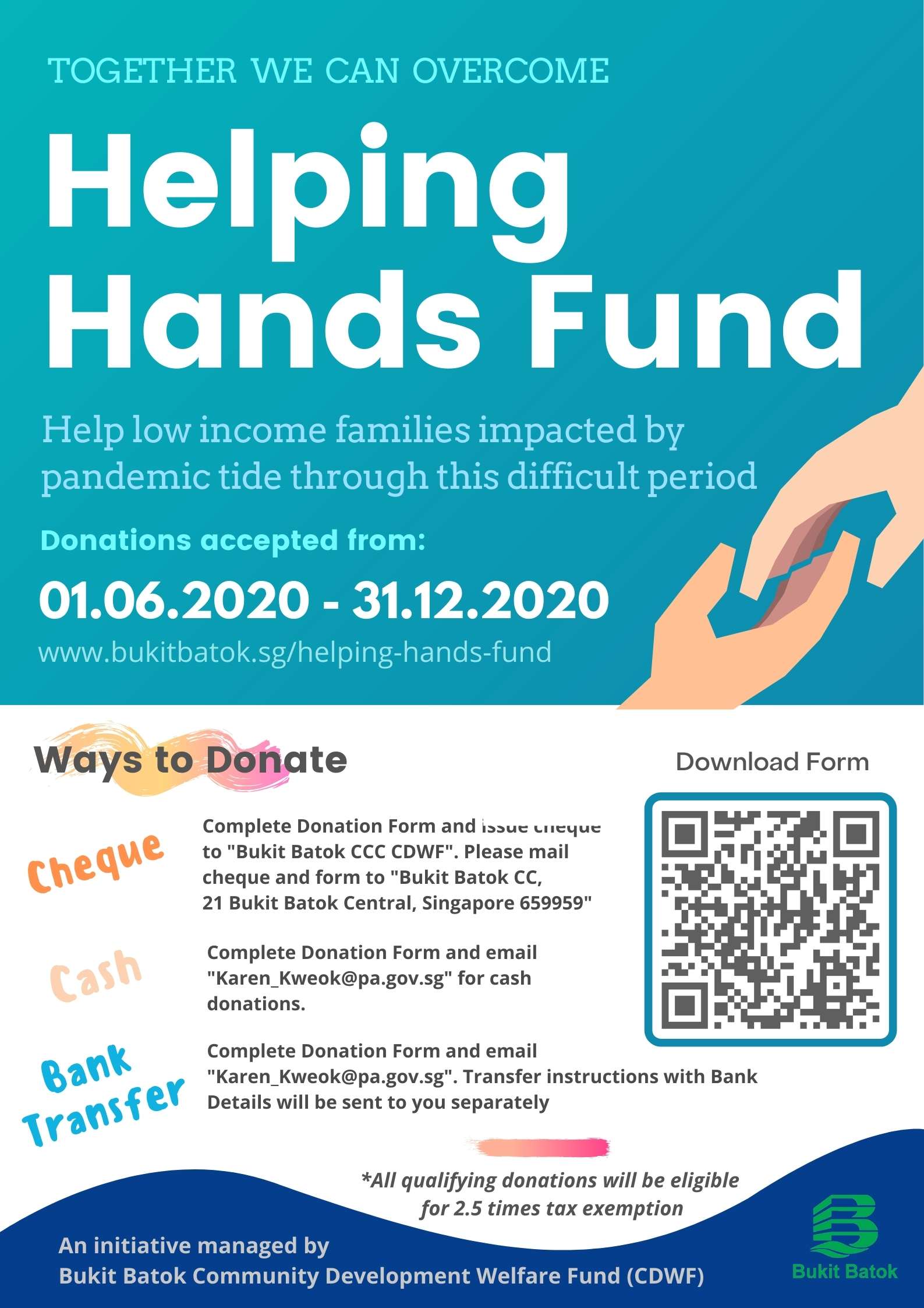 Helping Hands Fund Poster